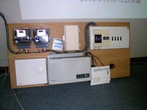 電気関係設備(外壁に設置する機材)