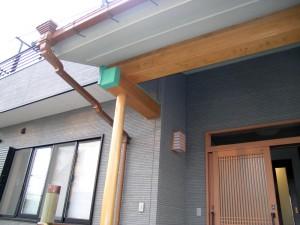 この雨といをご主人が銅板板金しました。
